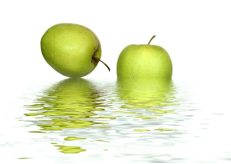 Abstrakte Äpfel stockfotografie