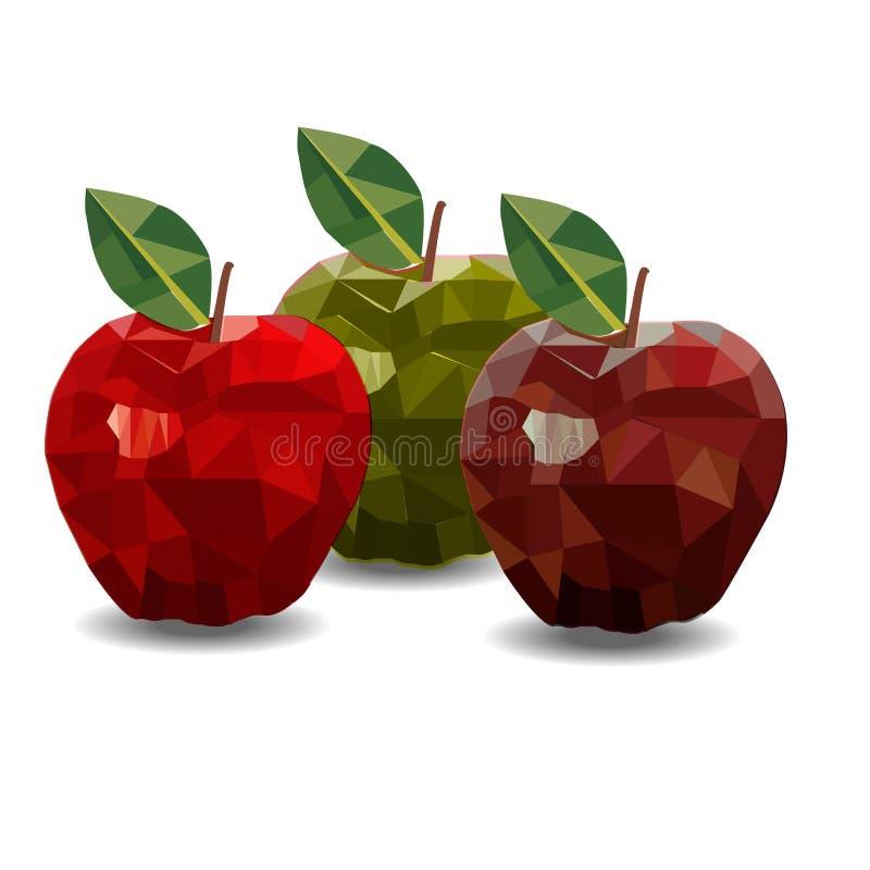 Abstrakte Äpfel lizenzfreie stockfotos
