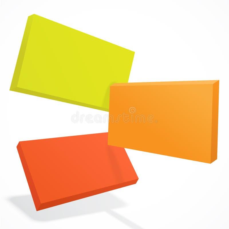 Abstrakte Überschneidungsfliesen 3D EPS10 farb stock abbildung