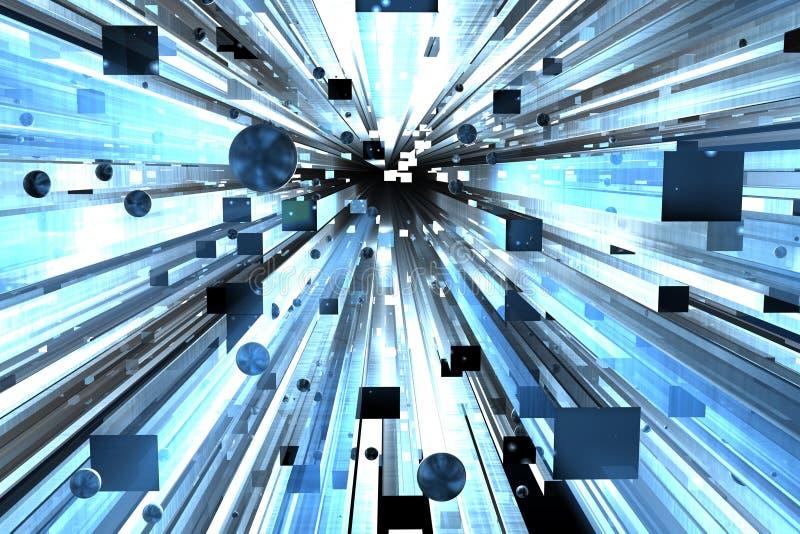 Abstrakte 3d übertragen lizenzfreie abbildung