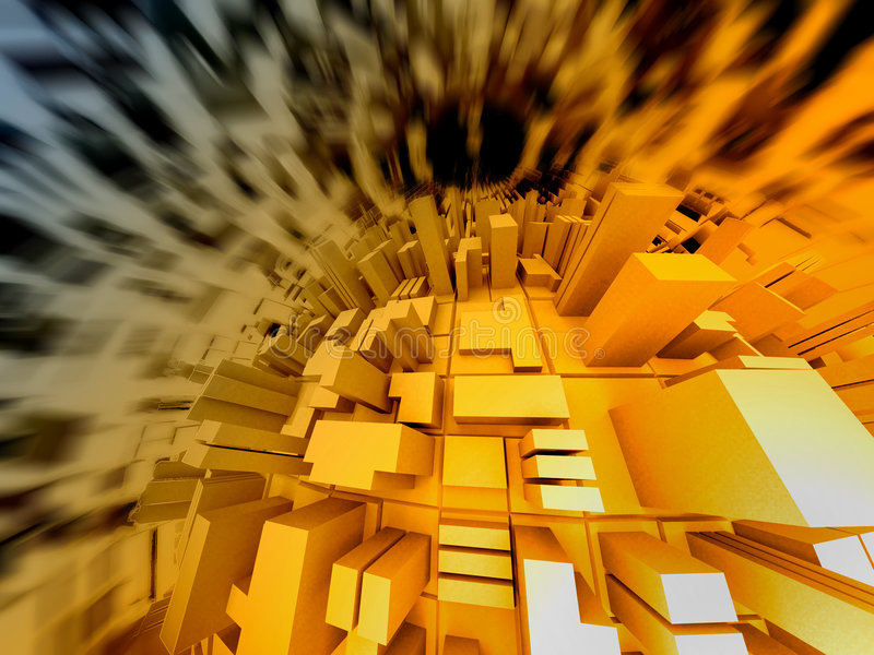 Abstrakte Abbildung 3d lizenzfreies stockbild