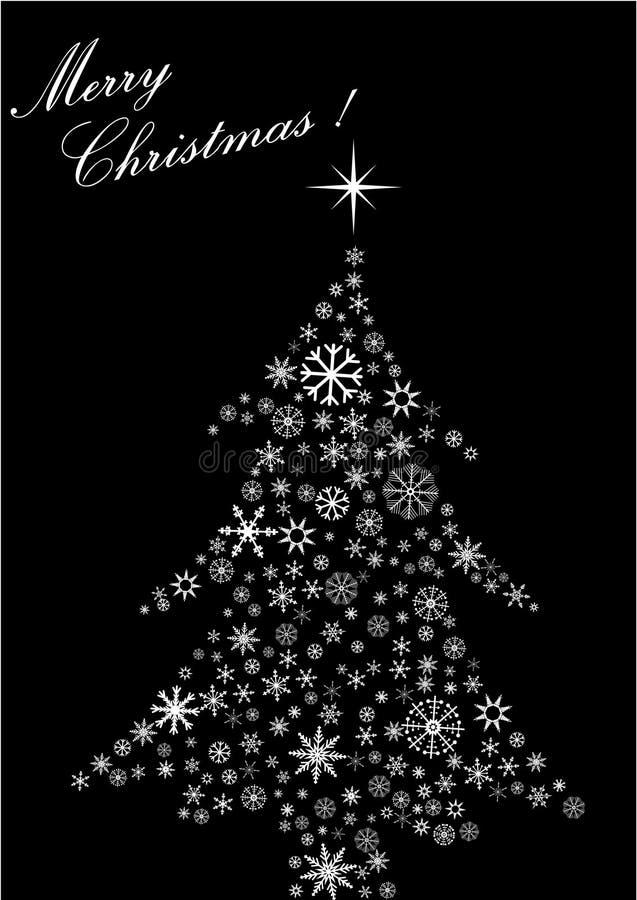 Abstrakte Abbildung eines Weihnachtsbaums stock abbildung