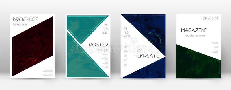 Abstrakte Abdeckung Attraktive Designschablone Suminagashi-Marmor-Dreieckplakat Attraktive modische AB stock abbildung