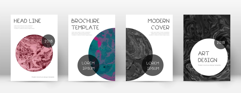 Abstrakte Abdeckung Außerordentliche Designschablone Modisches Marmorierungplakat Suminagashi Außerordentliche Tendenz lizenzfreie abbildung