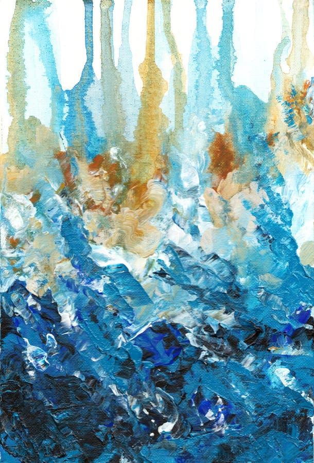Abstrakte acrilyc Grafik Acrylwellen lizenzfreie abbildung