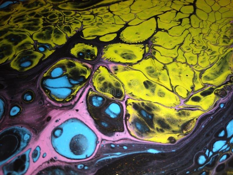 Abstrakte Acrylmalereien stockfotos