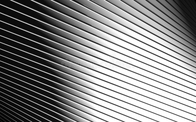 Abstrakte Aluminiumzeile Musterhintergrund vektor abbildung