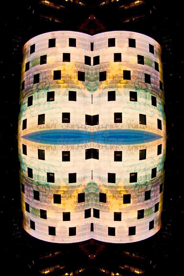 Abstrakte Ansicht des Nasdaq-Gebäudes lizenzfreie stockfotos