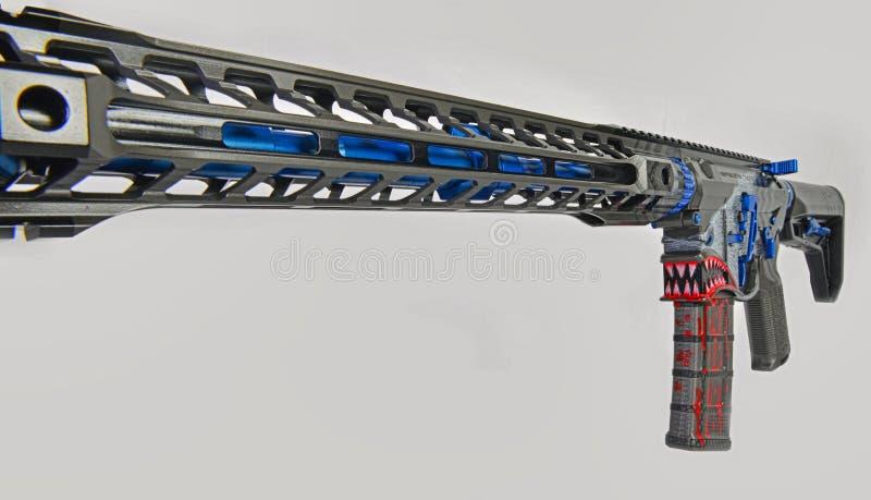 Abstrakte Ansicht eines Gewehrs HDR der Gewohnheit AR15 lizenzfreie stockfotografie