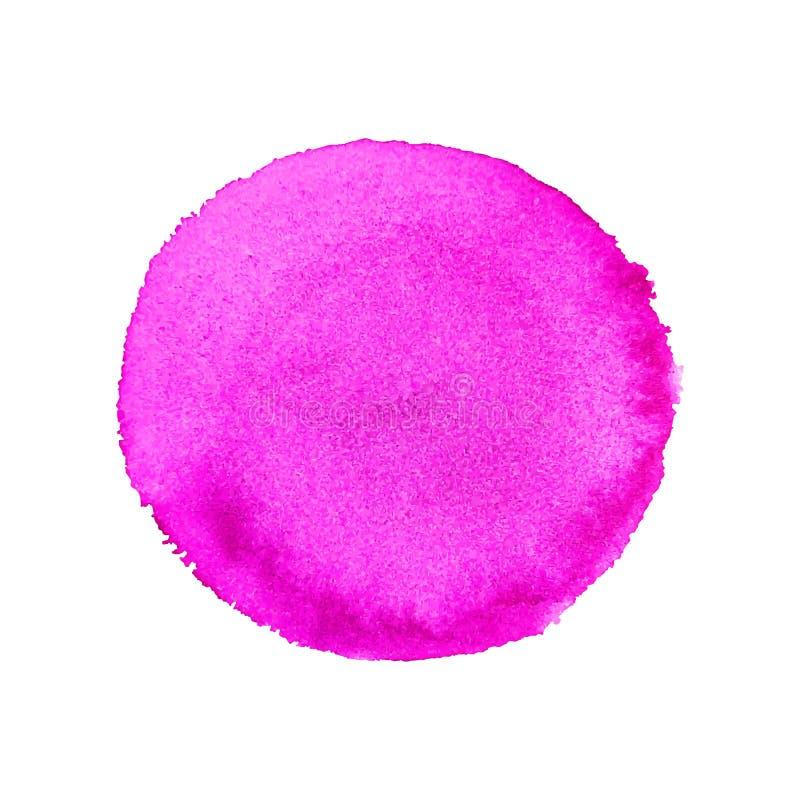 Abstrakte Aquarell-Hand malen rosa runden Hintergrund stock abbildung