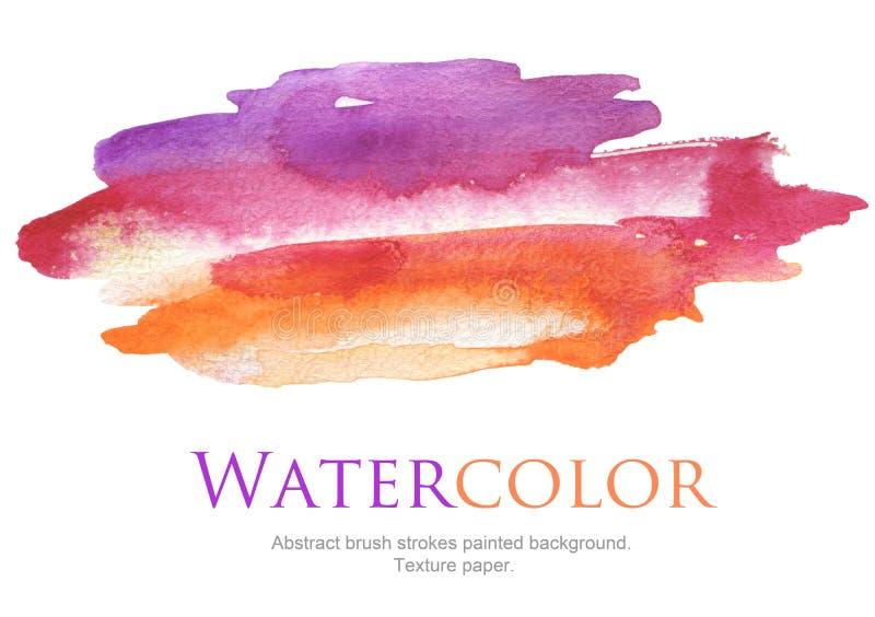 Abstrakte Aquarellbürstenanschläge malten Hintergrund stockbild