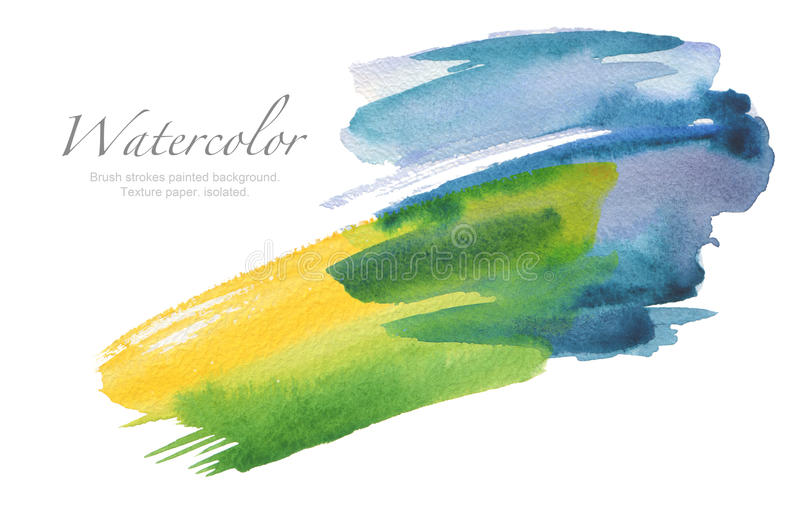 Abstrakte Aquarellbürstenanschläge malten Hintergrund Beschaffenheits-PA lizenzfreie stockfotografie