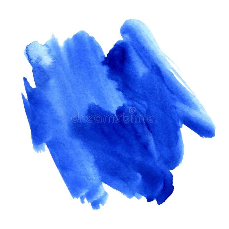 Abstrakte Aquarellbürstenanschläge malten Hintergrund Masern Sie Papier Abbildung auf weißem Hintergrund lizenzfreie stockfotografie
