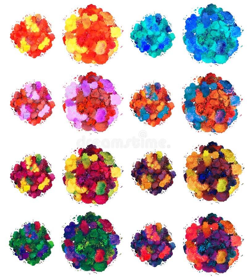 Abstrakte Aquarellbeschaffenheit, bionische Form, dynamisches Farbgriecheblau Gro?e Gr??e F?r den Hintergrund Getrennt auf wei?em lizenzfreie stockfotografie