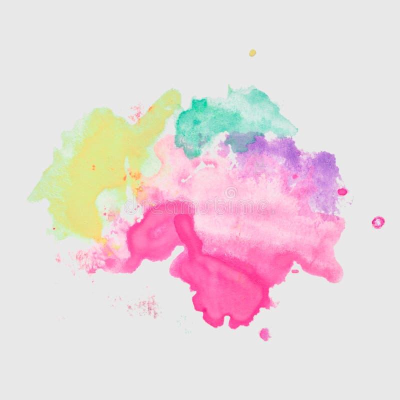 Abstrakte Aquarellhand gezeichneter Papierbeschaffenheitsfleck vektor abbildung