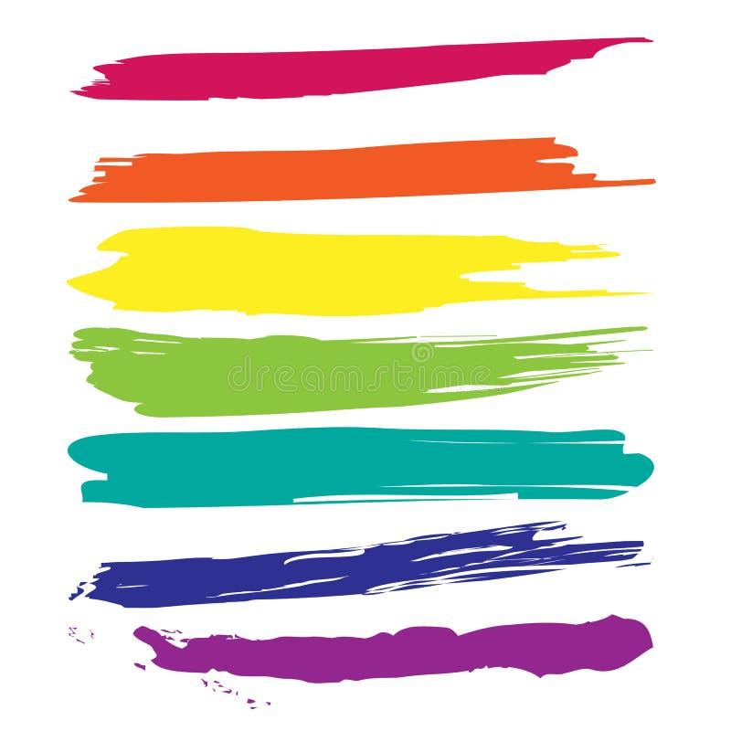 Abstrakte Aquarellkleckse Bunte Vektortinten-Farbe splats vektor abbildung