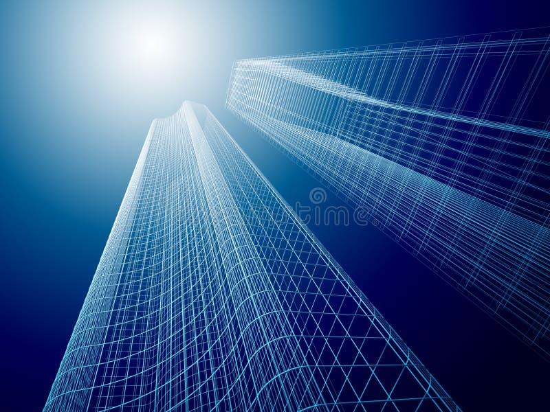 abstrakte Architektur 3d stock abbildung