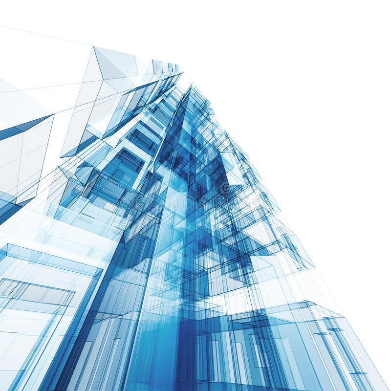 Abstrakte Architektur vektor abbildung