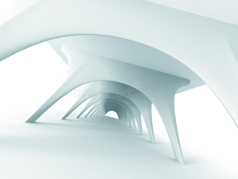 Abstrakte Architektur-futuristischer modernes Design-Hintergrund stock abbildung