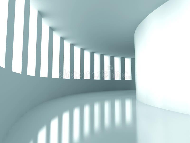 Abstrakte Architektur-moderner futuristischer Design-Hintergrund vektor abbildung