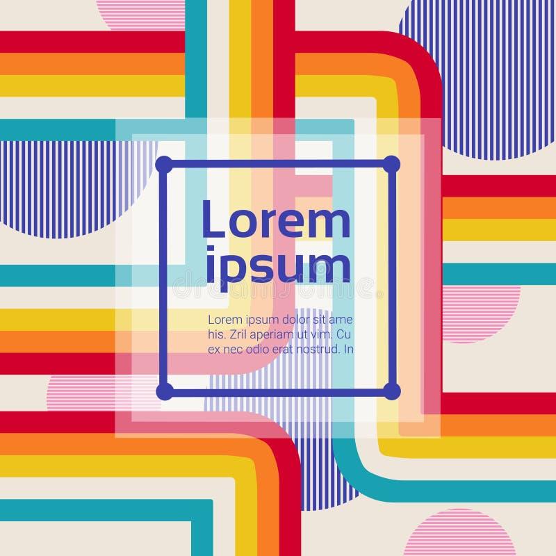 Abstrakte Art Background With Modern Geometric-Elemente vektor abbildung