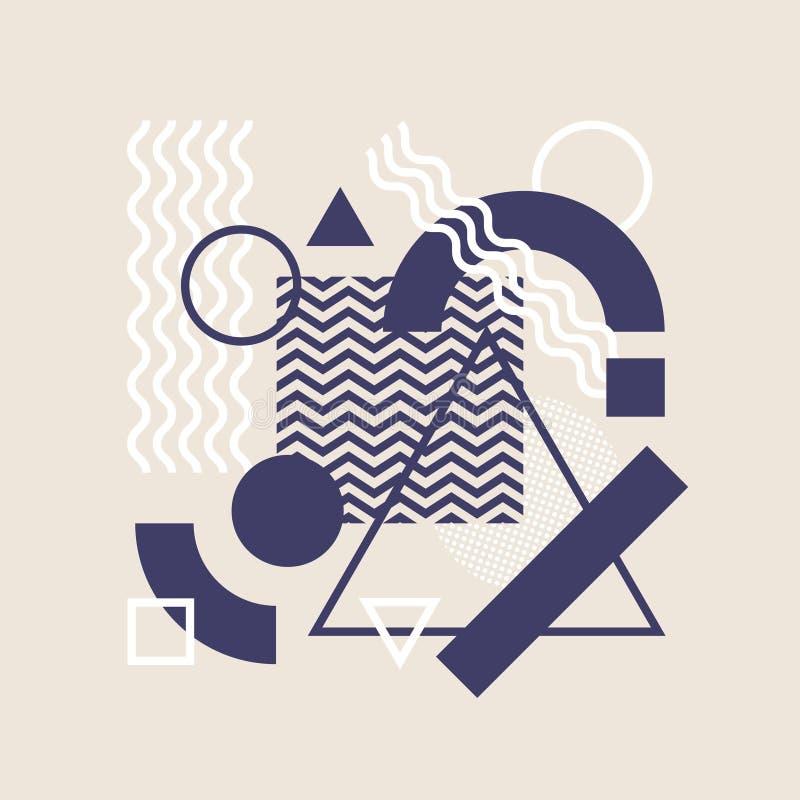 Abstrakte Art Background With Modern Geometric-Elemente stock abbildung