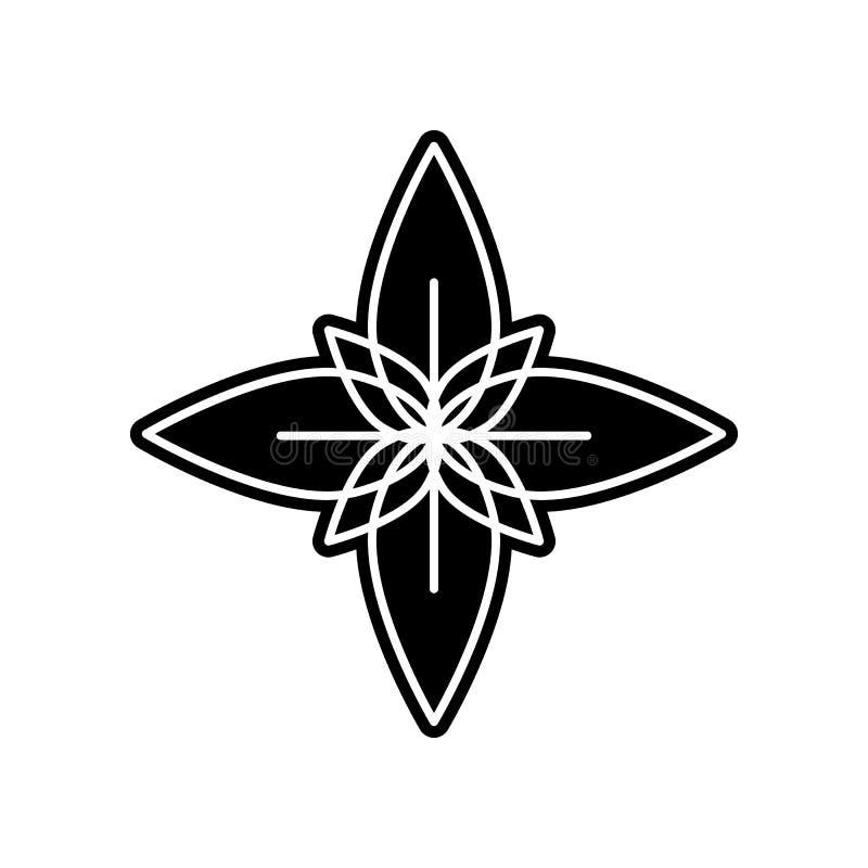 abstrakte Art der Blumenikone Element der Blume für bewegliches Konzept und Netz Appsikone Glyph, flache Ikone f?r Websiteentwurf lizenzfreie abbildung