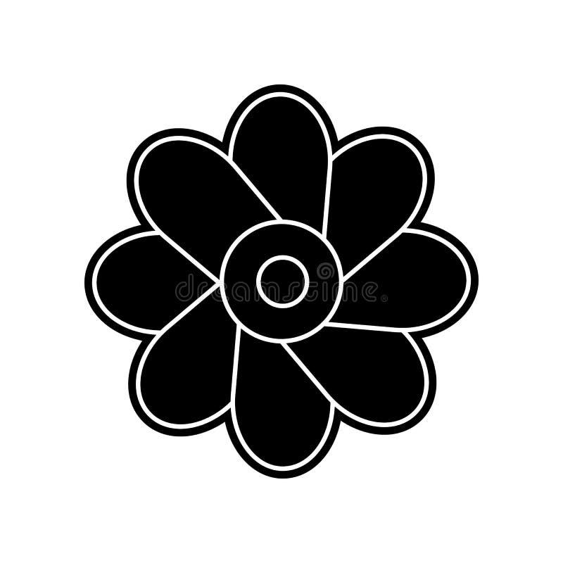 abstrakte Art der Blumenikone Element der Blume f?r bewegliches Konzept und Netz Appsikone Glyph, flache Ikone f?r Websiteentwurf stock abbildung