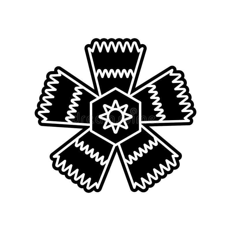 abstrakte Art der Blumenikone Element der Blume f?r bewegliches Konzept und Netz Appsikone Glyph, flache Ikone f?r Websiteentwurf vektor abbildung