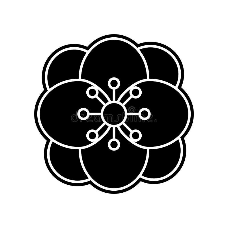 abstrakte Art der Blumenikone Element der Blume f?r bewegliches Konzept und Netz Appsikone Glyph, flache Ikone f?r Websiteentwurf lizenzfreie abbildung