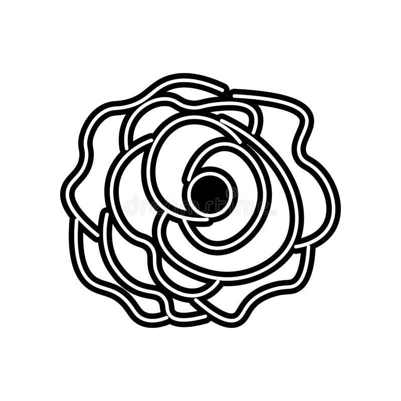 abstrakte Art der Gartennelkenblumenikone Element der Blume f?r bewegliches Konzept und Netz Appsikone Glyph, flache Ikone f?r We lizenzfreie abbildung
