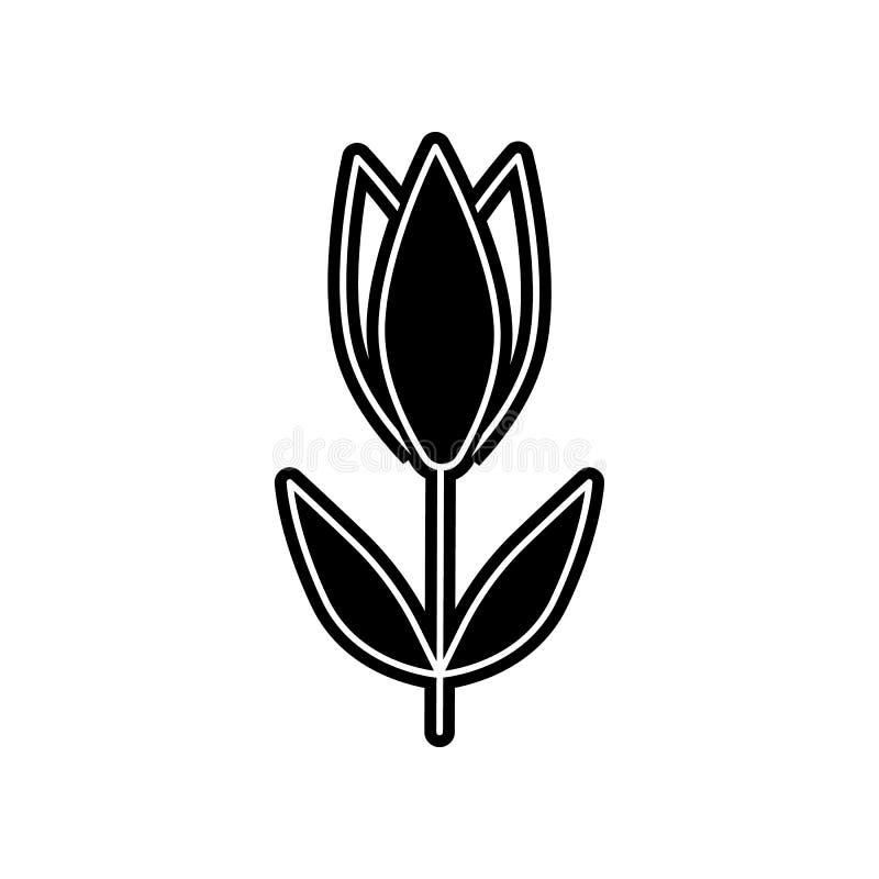 abstrakte Art der Tulpenblumenikone Element der Blume f?r bewegliches Konzept und Netz Appsikone Glyph, flache Ikone f?r Websitee lizenzfreie abbildung