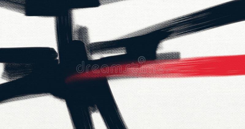 Abstrakte Artgrafik des Ölgemäldes auf Segeltuch stock abbildung