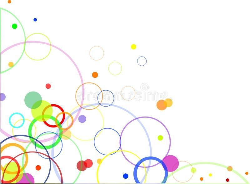 Abstrakte Auslegung mit Farbenkreisen vektor abbildung