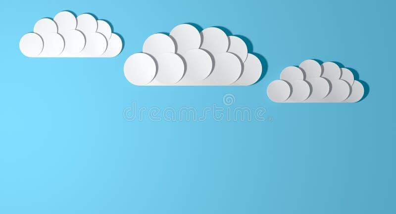 Abstrakte Ausschnitt-Karikatur-Wolken vektor abbildung
