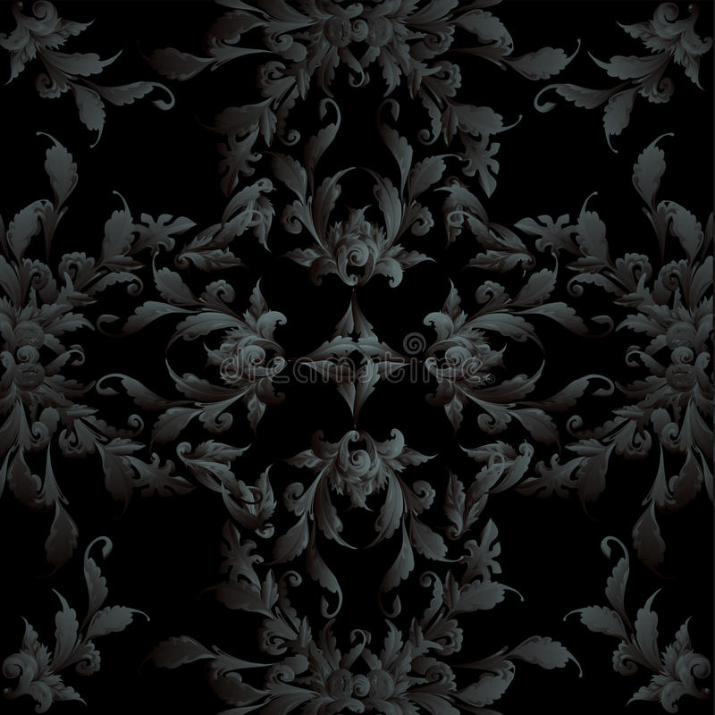 Download Abstrakte Barocke Auslegung Vektor Abbildung - Illustration von tapete, fractal: 27725660