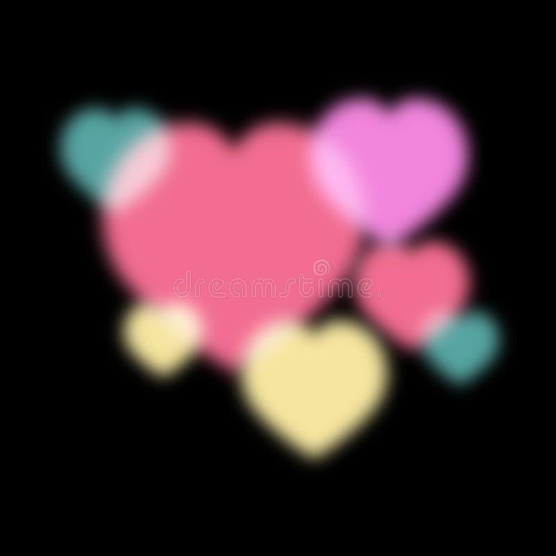 Abstrakte Beleuchtung der Liebe lizenzfreie abbildung