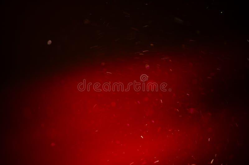 Abstrakte Beleuchtung funkelt auf Rot drapieren Hintergrund lizenzfreie abbildung