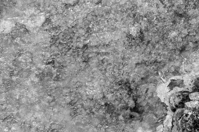 Abstrakte Beschaffenheit des Eises des einfarbigen Tones lizenzfreies stockfoto
