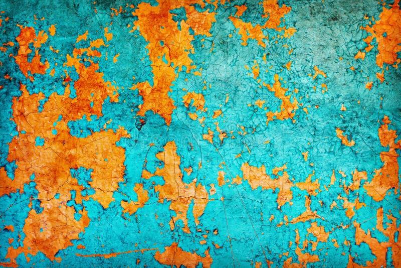 Abstrakte Beschaffenheit - Wand abgedeckt mit abgezogenem Lack lizenzfreie stockfotos