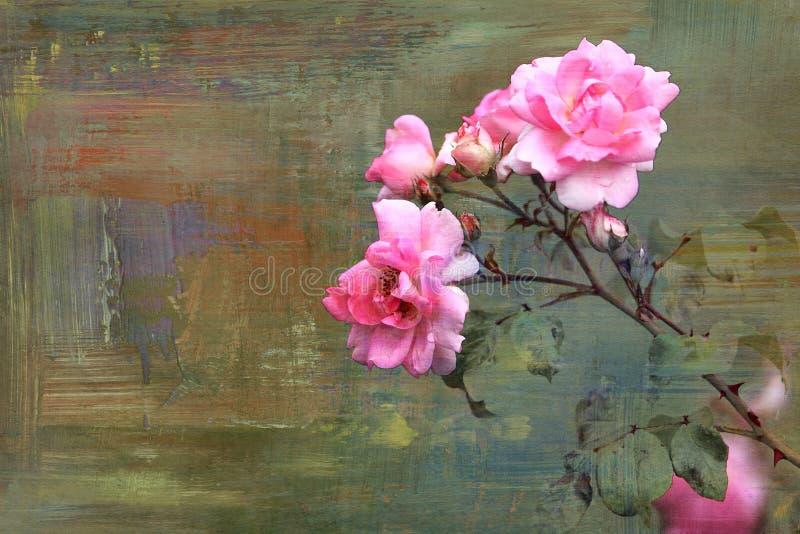 Abstrakte Beschaffenheiten und Hintergründe der Blume stock abbildung