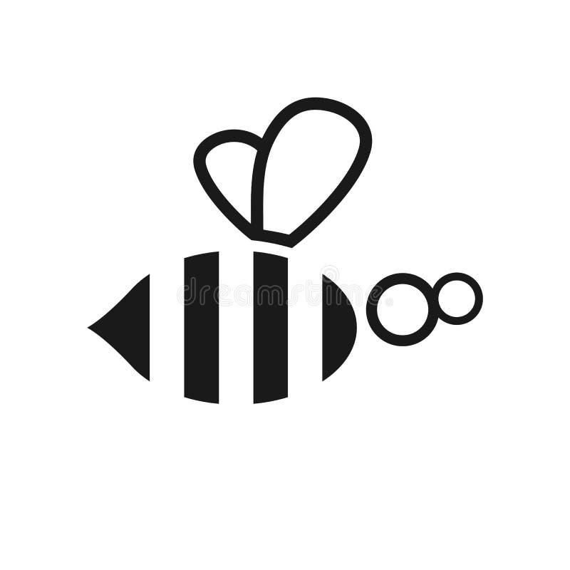 Abstrakte Bienenillustration lizenzfreie abbildung