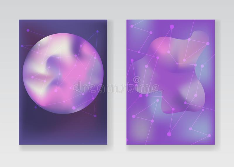 Abstrakte blasse purpurrote Raumhintergründe vektor abbildung