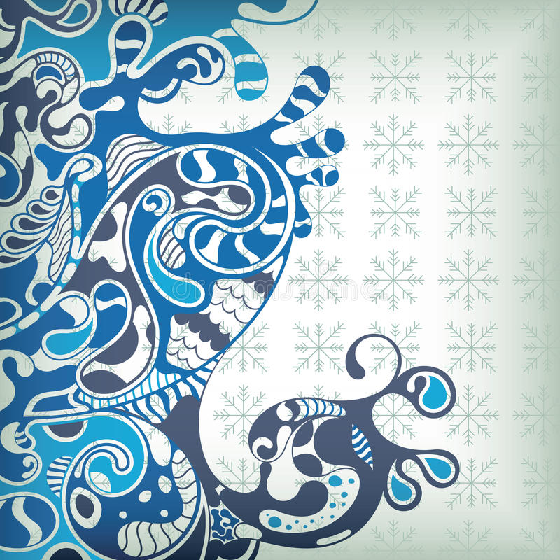Abstrakte Blau-Wellen lizenzfreie abbildung