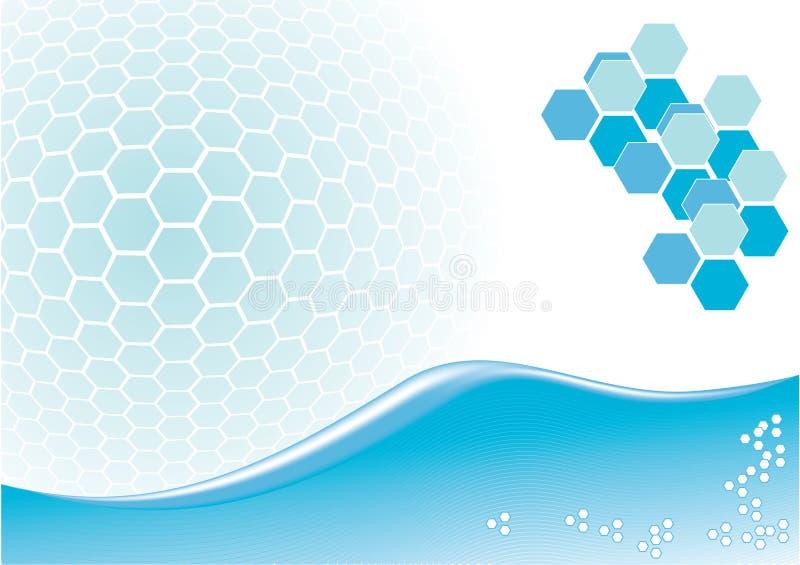 Abstrakte blaue Auslegung vektor abbildung