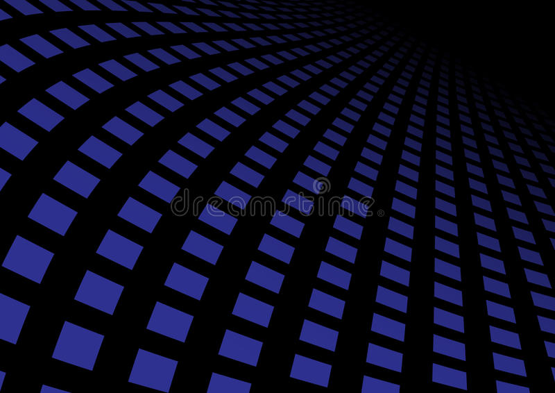 Abstrakte blaue Datenbahn stock abbildung