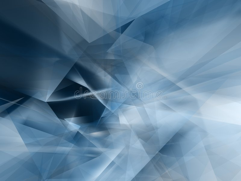 Abstrakte blaue Form lizenzfreie abbildung