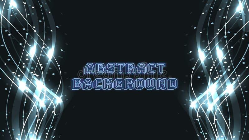 Abstrakte blaue Hintergrundbeschaffenheit von magischen schönen digitalen glühenden brennenden brennenden hellen Wellen Lasers vo stock abbildung
