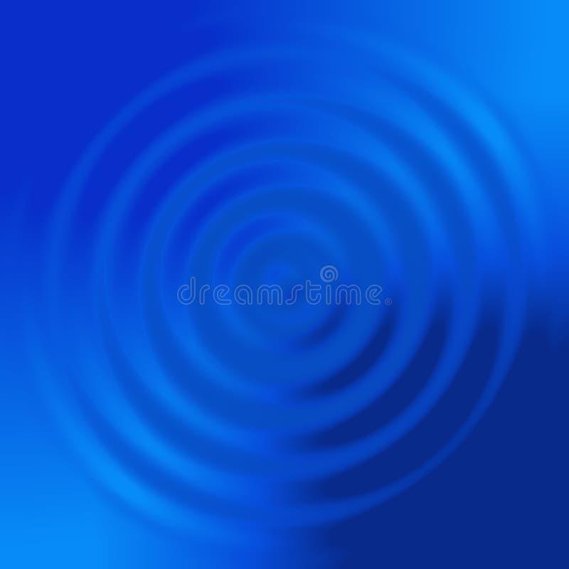 Abstrakte blaue konzentrische Kreise lizenzfreie abbildung