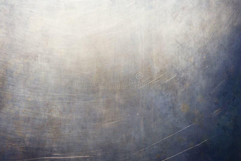 Abstrakte blaue metallische Wandbeschaffenheit oder -hintergrund lizenzfreies stockbild